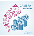 photo camera icon element vector image vector image