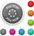 Play now award vector image vector image