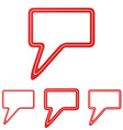 Red line speech bubble logo design set vector image vector image