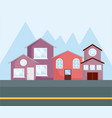 row of houses design vector image vector image