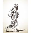 sadhu vector image vector image