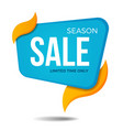 season sale label price tag banner sticker badge vector image vector image