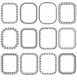 Set openwork frame for design vector image vector image