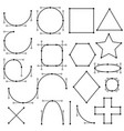 shapes form lines vector image