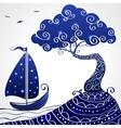 ship tree vector image vector image
