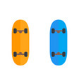 skateboard icons isolated on white vector image
