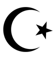 Star and crescent icon vector image vector image