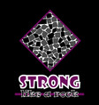 strong like a rock abstract purple style flat vector image vector image