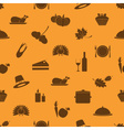 thanksgiving icons set seamless autumn pattern vector image