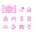 Thin line icons set wedding vector image vector image