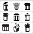 trash icons vector image