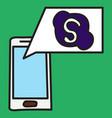 unusual look skype logo vector image vector image