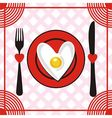 Valentines day menu vector image