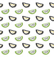 watermelon slice seamless pattern vector image