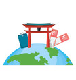 world travel and tourism vector image vector image