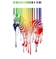 zebra silhouette vector image vector image