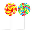 colorful swirl lollipop set isolated on white vector image