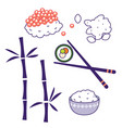 asian cuisine traditional food culture vector image