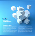 abstract white cubes concept vector image