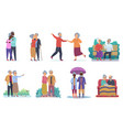 active lifestyle old grandparents elderly people vector image