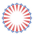 american symbols fireworks frame vector image vector image