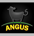angus cow logo design vector image