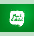 back to school banner first day of school vector image