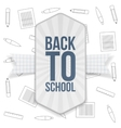 Back to School festive Badge with Ribbon vector image