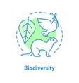 biodiversity concept icon vector image