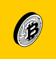 bitcoin coin isolated crypto currency symbol vector image