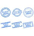 black week stamps vector image