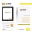 briefcase business logo tab app diary pvc vector image vector image