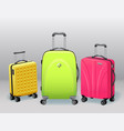 business and family vacation travel luggage with vector image