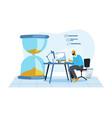 business office deadline concept vector image vector image