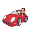 Businessman driving car vector image vector image