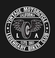 california motorcycle graphic for t-shirt vector image vector image