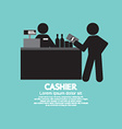 Cashier With Customer Graphic Symbol vector image
