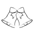 christmas bells with bow decoration vector image