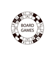 circle logo board game vector image vector image