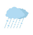 cloud rain snow icon flat style vector image