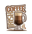cocktail irish coffee vector image vector image