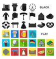 country germany flat icons in set collection for vector image