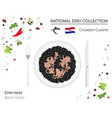 croatian cuisine european national dish vector image