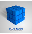 cube blue vector image vector image