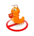 Cute orange caterpillar cartoon vector image vector image