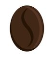 Dark brown coffee bean graphic vector image