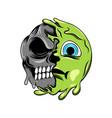 emoticon scary expression to sick vector image