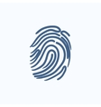 Fingerprint sketch icon vector image vector image