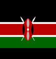 flag of kenya official colors and proportions vector image