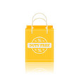 flat icon of duty free shopping bags at vector image vector image
